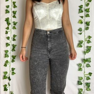 American Apparel Acid-Wash High-waisted Jeans